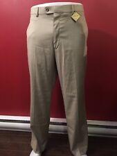 AXIST Men's Beige Premium Comfort Flat Front Dress Pants -Size 36W x 30L - NWT