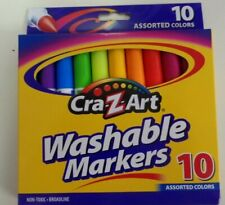 WASHABLE MARKERS-SET OF 10- ASSORTED COLORS