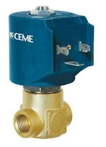 "CEME 9912 Solenoid Valve N/Closed 1/4"" BSP water air steam light oils EPDM"