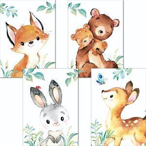 Kinderzimmer Poster Mädchen Deko Kinderbilder Baby Junge Tiere Wandbilder Bilder