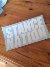 STANCE NATION Vinyl Decal Car Sticker. Euro, Dub, JDM