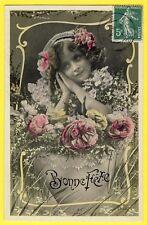 cpa Fantaisie Volutes Art Nouveau BONNE FÊTE à Marie PONÇELIN de LAMOURA (Jura)