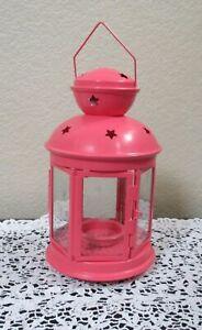 Pink Candle Lantern IKEA