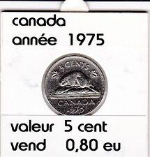 canada 5 cent  1975   voir description