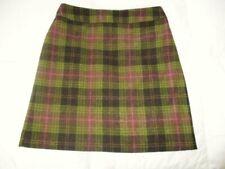BODEN Green Wool Plaid Skirt US 6  UK 10
