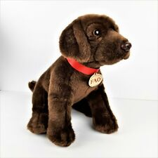 FAO Schwartz Chocolate Brown Lab Labrador Dog Plush Stuffed Animal