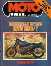 MOTO JOURNAL  348 Dossier BMW R80/7 R80 Série 7 BULTACO 350 Sherpa Le TOUQUET 78