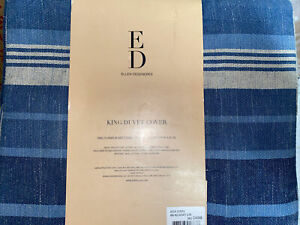 ED Ellen DeGeneres AZUR STRIPE IND King Duvet Cover