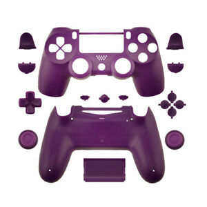 Shell Case for PS4 Slim Pro Controller Purple Full Housing Kit Replacement DIY