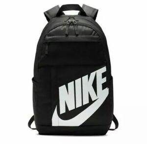 Nike Elemental 2.0 Backpack Black White BA5876-082 School Bag Pack
