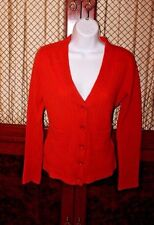 Chloe Women's 100% Cashmere Orange Sweater Cardigan Size Extra Small