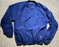 MENS FOOTJOY NAVY DARK BLUE PULLOVER JACKET GOLF SIZE XL