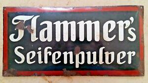 Historisches Emailleschild Flammer´s Seifenpulver Flammers Emailschild um 1910 !