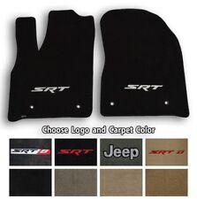 Jeep Grand Cherokee Ultimats Carpet 2pc Front Mats - Choose Color & Logo