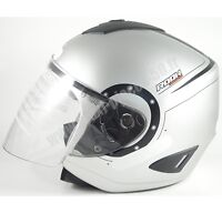 Casque Bol NEUF moto quad scooter maxiscooter gris noir Taille 59 60 cm Large L