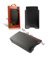 UK Roxfit Impact Black Leather Case Cover Pouch for Sony Xperia U Miro Go Tipo
