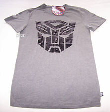 Transformers Autobot Mens Grey Printed T Shirt Size XS New