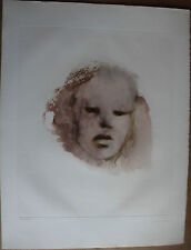 Lithographie lithograph de Leonor FINI signée numérotée visage