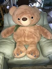 "Rare Jumbo Hallmark Plush Brown Bear 40"" Super soft Toy"