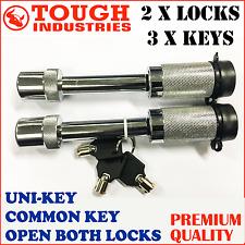 HITCH PIN LOCK 5/8 S TYPE TOW BAR TONGUE LOCK TRAILER PART 4WD CARAVAN Uni Key 2
