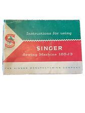 New listing Vintage Singer Sewing Machine 185 J 3 Instruction Booklet Manual 1958