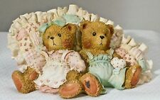 1992 Cherished Teddies 910775 Michelle And Michael Friendship Is A Cozy Feeling