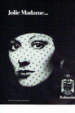 PUBLICITE ADVERTISING 017  1973  Pierre Balmain parfum Jolie Madame 2