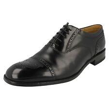 Loake HOMBRE CORDONES NEGRO Tostado Cuero Marrón Formal Elegante Zapatos Talla