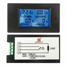 AC 80~260V 20A LCD Digital Volt Watt Power Energy Meter Panel Voltmeter Ammeter