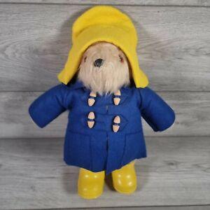 Vintage Paddington Bear Original Gabrielle 1980. With Dunlop Yellow Boots Hat UK