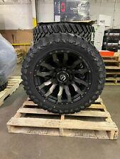 20x10 Fuel D674 Blitz Black Wheels Rims 33
