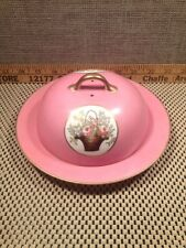 MEITO CHINA HAND PAINTED Platter Plate Floral Pink GOLD TRIM Japan Vtg Have More