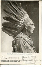 RARE 1906 CHIEF BIG THUNDER, INDIAN ISLAND AMERICAN INDIAN REAL PHOTO POST CARD