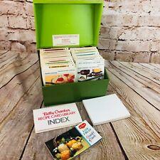 Betty Crocker Recipe Card Library Cookbook Box w Index Cards Vintage Retro Green