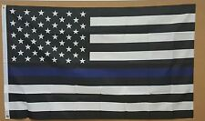 THIN BLUE LINE 3'x5' FLAG POLICE LIVES MATTER LAW ENFORCEMENT SUPPORT BANNER