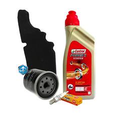 Kit tagliando Castrol 5W40 filtro olio aria Piaggio 82635R 843194 candela CR7EB