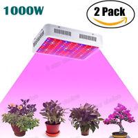 2PACK 1000W LED Grow Light Lamp Dual Chip Full Spectrum Medical Indoor Plant Veg