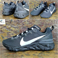 "NIKE REACT ELEMENT 55 SE ""Black Reflect"" Men's Trainers, UK 6 EUR 40  BV1507 002"