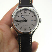 Parnis Men's Mechanical Casual Watch Stainless Case Date Indicator Waterproof