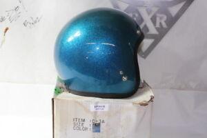 Vintage Metalflake 3/4 helmet size L Blue buco shoei Harley Honda EPS20128
