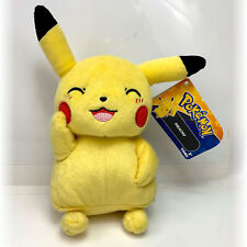 Pokemon Tomy Blushing Pikachu Plush Stuffed Animal Toy NWT + Free Card!