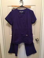 NWOT Grey's Anatomy Purple Scrubs Set : Small Pants, Medium Top