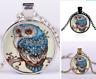 Vintage Retro Living Tree of Life Cabochon Bronze Glass Chain Pendant Necklace U
