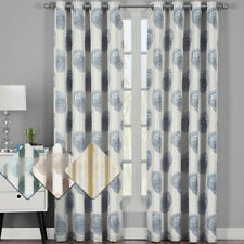 Chic Abstract Lafayette Grommet Curtain Panels (pair)