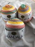 Lion Brand Mandala Yarn - Pixie, 590 Yards-150 Gram Skeins, Lot Of 3