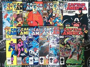 Captain America Lot of 13 #290-317 Marvel Comics 1984 1st App Red Skull Daughter