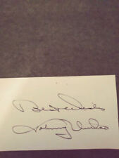 JOHNNY UNITAS SIGNED 3x5 INDEX CARD  BALTIMORE  COLTS