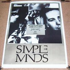 SIMPLE MINDS BIG AUDIO DYNAMITE WATERBOYS FESTIVAL POSTER MILTON KEYNES UK 1986