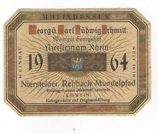 Vintage1964 Wine Label German Eiswein Niersteiner Mundelpfad Rheinhessen Perfect