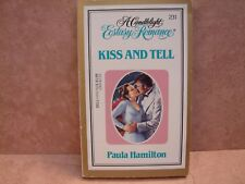 Candlelight Regency Romance: Kiss and Tell #231 by Paula Hamilton (1984,PB)B0151